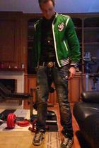 Gucci velvet jacket - Dsquared2 shirt - Dolce & Gabbana belt - Dsquared2 pins-bu