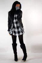Nine West shoes - Adorevintage dress - f21 jacket - Heritage sweater