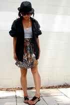 Adorevintage jacket - Urban Outfitters top - Patricia Green shoes - Forever21 sk