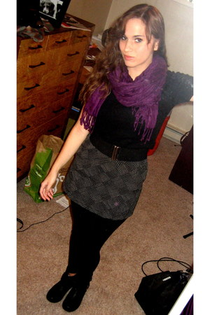 black crop top Forever 21 sweater - black motorcycle kohls boots