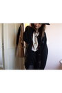 Vintage-shorts-vintage-blouse-vintage-cardigan-thrifted-accessories-vint