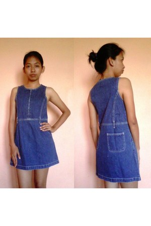 navy denim Gap dress