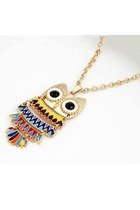 owl fun rainbow wwwlovelylovelyme necklace