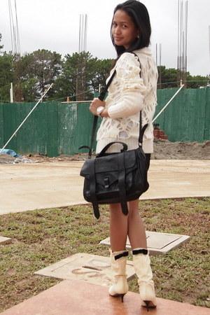 Chanel boots - PROENZA SCHOULER bag - Miss Sixty sweatshirt