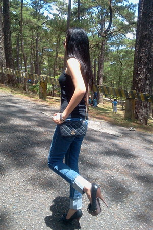 Forever21 shoes - Forever21 jeans - Chanel bag - thrifted top