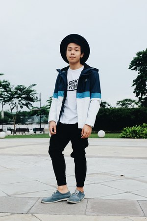 American Eagle PH shoes - Bershka jacket - H&M shirt