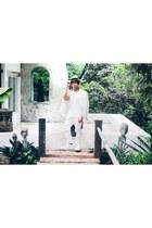 white giordano blazer - white H&M shirt - white H&M pants