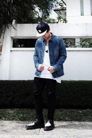 navy H&M hat - navy H&M jacket