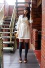 Beige-sportsgirl-dress-gray-sportsgirl-socks-brown-zu-shoes
