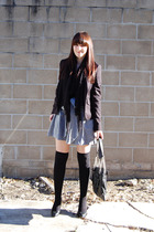 black portmans blazer - black I love Billy shoes - black Saba scarf