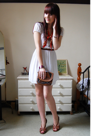 MinkPink dress - betts shoes - Sportsgirl purse - thrifted scarf