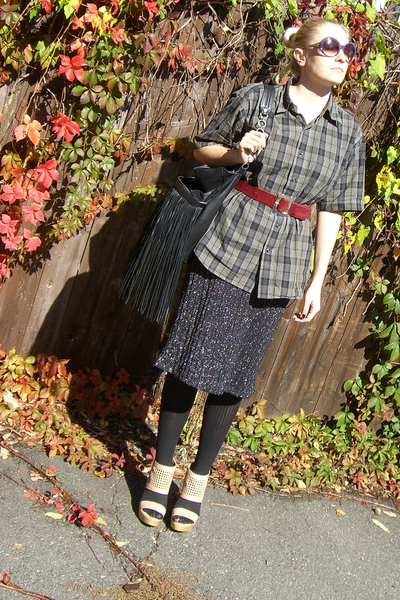 shirt - shirt - Prada sunglasses - vintage belt - loeffler randall shoes - Expre