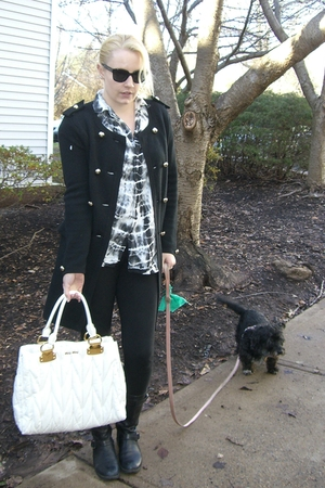 black banana republic cardigan - black Gypsy 05 leggings - white shirt - black K