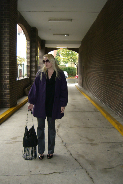 banana republic coat - peoples market sweater - Aridza Bross purse - space girls