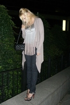 Foley and Corinna shirt - Express jeans - banana republic sweater - Chanel purse