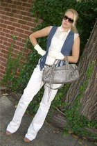 Seven For All Mankind pants - Torn by Ronny Kobo vest - balenciaga purse - vinta