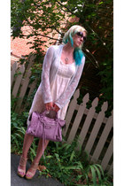 neutral loeffler randall sandals - light purple balenciaga bag