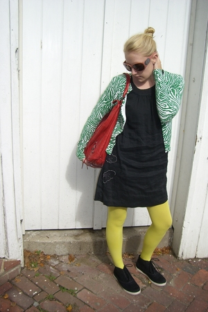da nang dress - balenciaga purse - banana republic sweater - Urban Outfitters ti