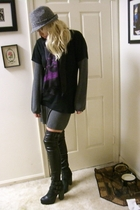 Topshop boots - banana republic hat - banana republic scarf - Limited dress - Ga