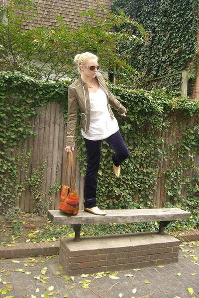 Marc Jacobs jacket - banana republic shirt - vintage boots - purse - Chloe sungl