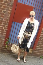 vintage dress - banana republic coat - PROENZA SCHOULER sunglasses - YSL purse -