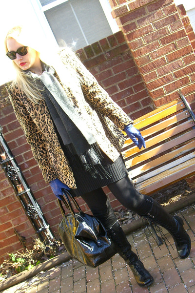 brown vintage ebay blazer - black Gypsy 05 leggings - black Rockport boots - bla