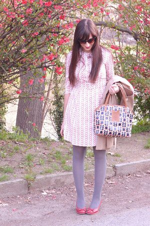 ivory nadinoo dress - ruby red Clarks shoes - silver Calzedonia tights