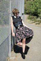 Forever 21 t-shirt - floral Urban Outfitters skirt - Forever 21 top