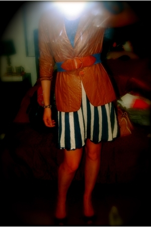 thriftted jacket - dress - Witchery belt - Mollini shoes - Mimco accessories
