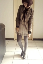 blouse - vest - blazer - skirt - tights - shoes