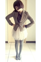 blouse - blazer - skirt - tights - shoes