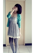 dress - sweater - tights - shoes