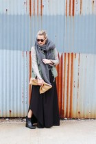 olive green Denim & Supply jacket - bronze ADAM jacket - black homemade dress