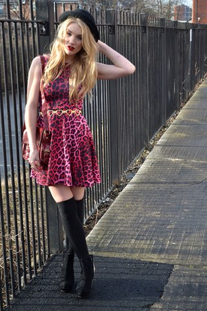 Republic dress - bowler hat H&M hat - Primark bag - heart belt vintage belt