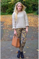 studded knit lavish alice jumper - baroque print red label leggings