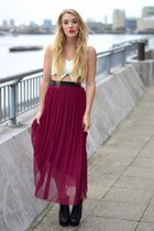 maroon In Love with Fashion dress