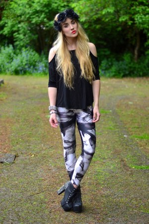 heather gray smoke print lovely sally leggings