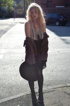 black Dahlia dress - black Topshop boots - maroon Primark hat