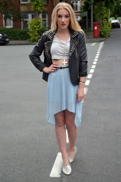 sky blue Glamorous skirt - black Goldie London jacket