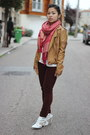 Ruby-red-chinatown-scarf-crimson-velour-topshop-jeans