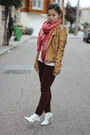 Crimson-velour-topshop-jeans-light-brown-faux-leather-zara-jacket
