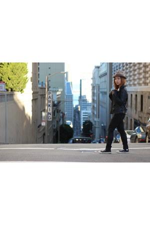 black Sound & Matter jacket - camel fedora Collection 18 hat