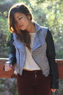 Charcoal-gray-sound-matter-jacket-tan-sam-edelman-boots