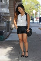 black chicnova bag - black Forever 21 shorts - black Primark sandals