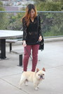 Maroon-topshop-jeans-black-vintage-sweater-black-nasty-gal-bag