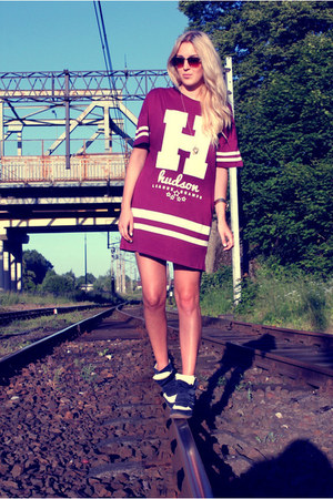 maroon Atmosphere dress