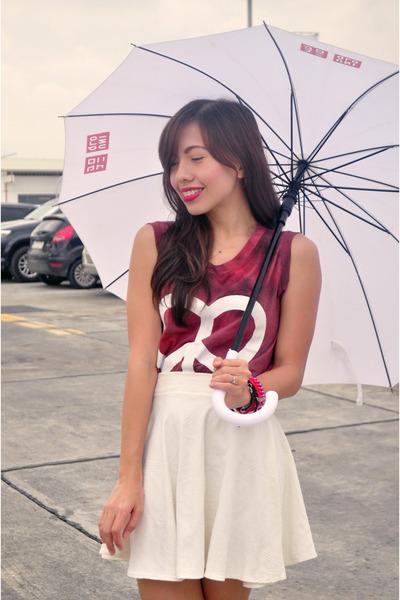 ruby red Simones Closet top - white PINK FASHION skirt