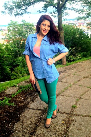 Bata shoes - green Bershka jeans - jeans Giani Jeroti jacket
