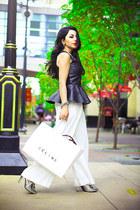 Zara blouse - Alexander Wang heels - Zara pants - Forever 21 necklace