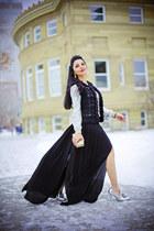 silver H&M sweater - white Love Moschino bag - black American Retro vest